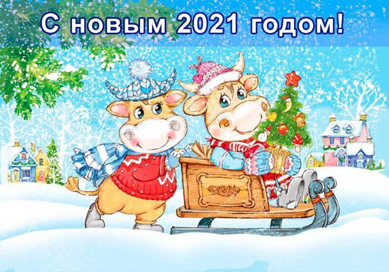 с новым 2021 годом
